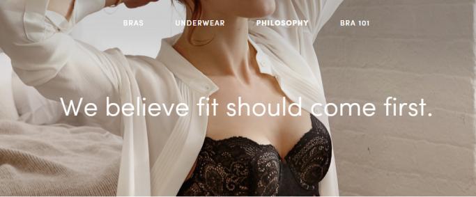Screenshot: ThirdLove's philosophy