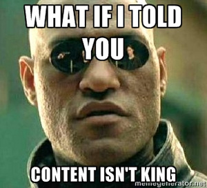 """Content is…"" - oh shut up!"