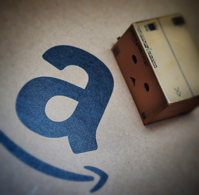 Amazon's logo and parcel