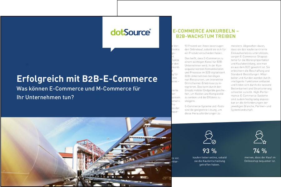 Updated white paper: »E-Commerce Potential in B2B – What can e-commerce and m-commerce do for your business?«