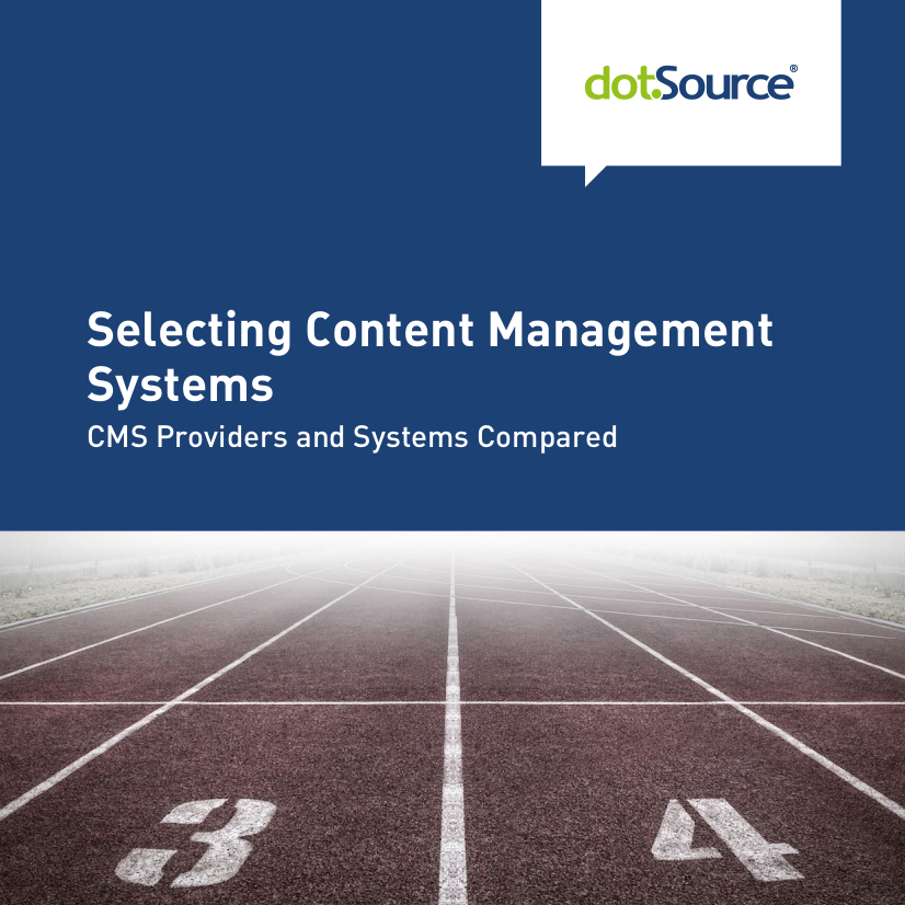 dotSource CMS Selecting Content Management Systems Cover
