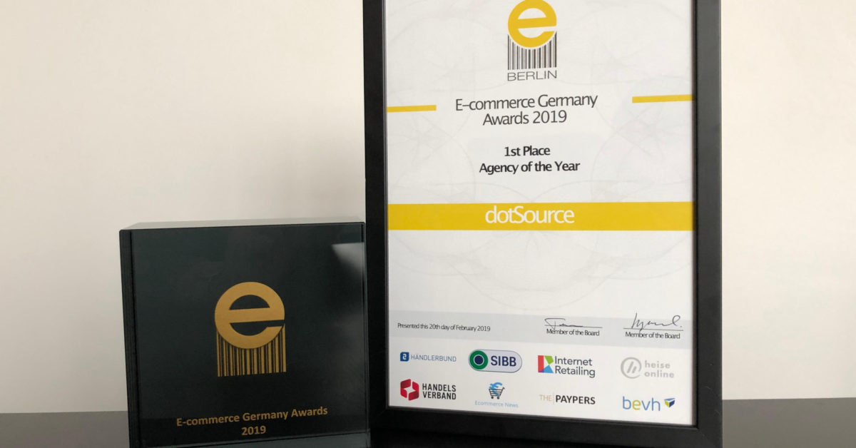 dotSource awarded »Agency of the Year« 2019