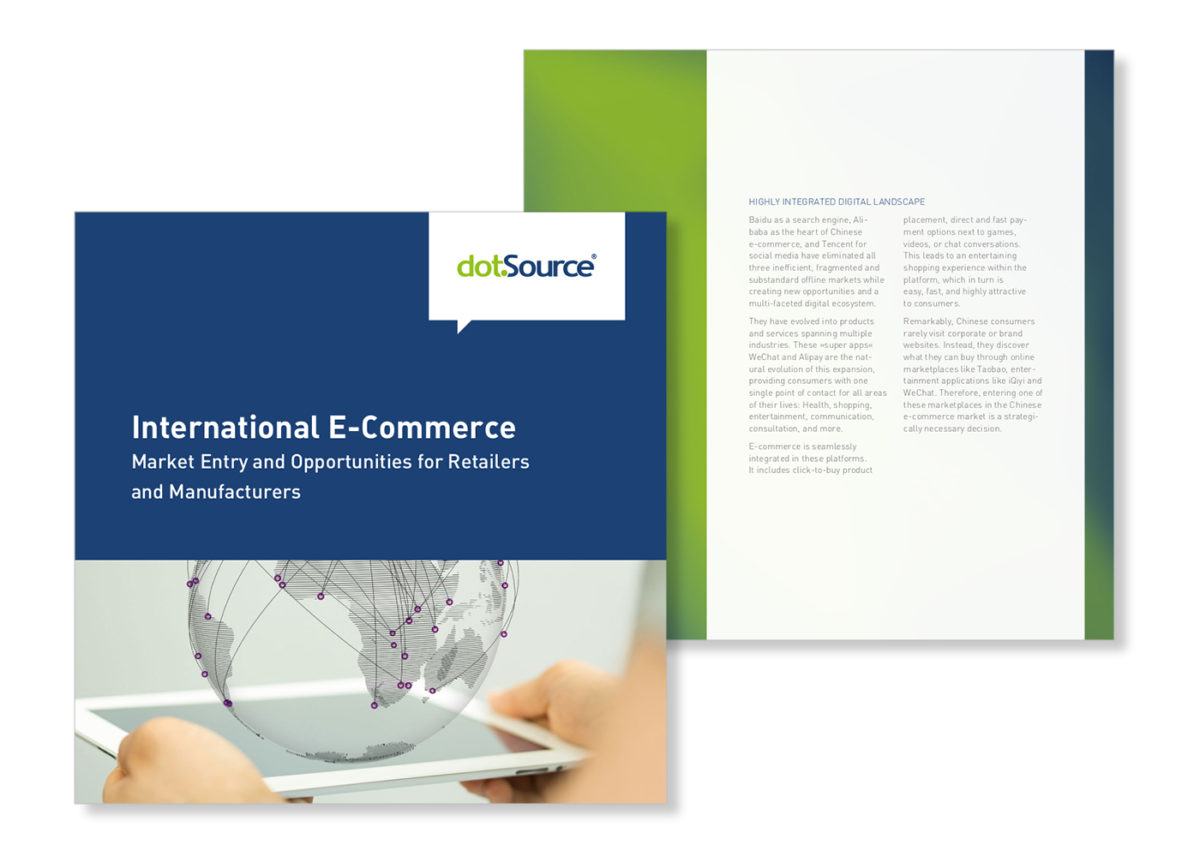 New white paper: »International E-Commerce. Market Entry and Opportunities for Retailers and Manufacturers«